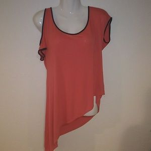 NWOT Jessica Simpson Asymmetrical Coral Top